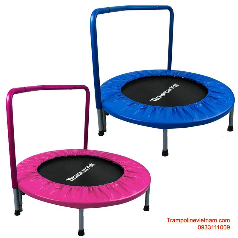 Bạt nhún trampoline PL1906-B màu xanh và hồng